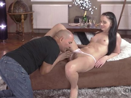 Adorable brunette Kittina Ivory gets banged by old boyfriend