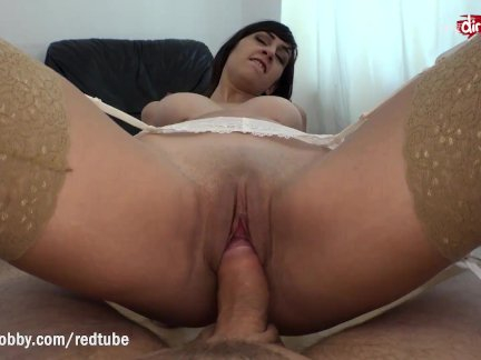 Horny busty step-niece helps uncle get rid of his blue balls
