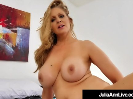 Stepmom Julia Ann Rides & Sucks Her Boy's Cock!