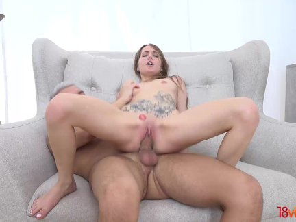 Tightass coed beauty creampied